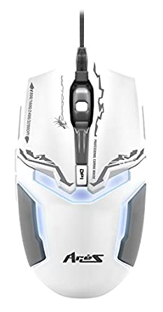 Dragon War ELE-G10 Aries Blue Sensor Gaming Mouse with Macro Function (White)