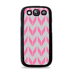 Pink Arrow Pattern Galaxy S3 Black Silicone Case