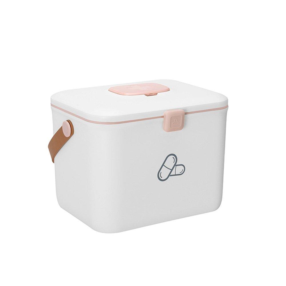 HuAma Haushaltsmedizinkastenkindergroßer Tragbarer Kastenkasten der Ersten Hilfe des Tragbaren Tragbaren Plastikmedizinkästenkastens Familienmedizinkasten