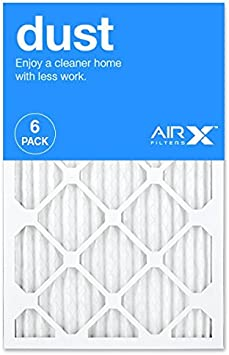 Box of 6 Made in the USA AIRx DUST 16x20x1 MERV 8 Pleated Air Filter