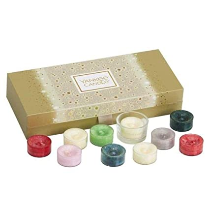 a5e7f07e179ca Yankee Candle Christmas 10x Tea Light Palette Gift Set  Amazon.co.uk   Kitchen   Home