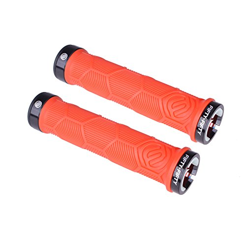Mtb Replacement (FIFTY-FIFTY Dual Lock-on Bike Grips(Red))