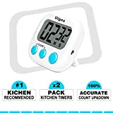 Uigos 2 Pack Digital Kitchen Timer II 2.0 , Big