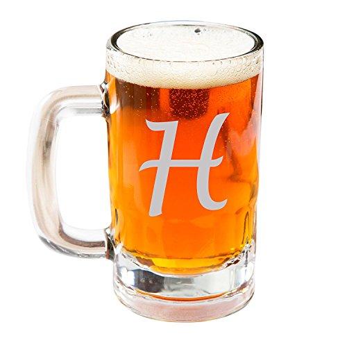 Engraved Beer Mug Glasses, Personalized Beer Steins Glass, Etched Beer Mug Glass, Customized Beer Mug Glass
