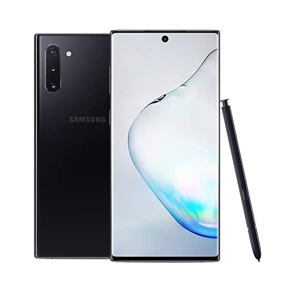Samsung Galaxy Note 10+ Plus Factory Unlocked Cell Phone with 256GB (U.S. Warranty), Aura Glow (Silver) Note10+ 2