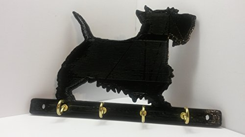 ABS Plastic Scottish Terrier Scottie Dog Leash Rack Dog Leash Holder Key Rack Key Holder Jewelry Holder Jewelry Rack Jewelry Organizer