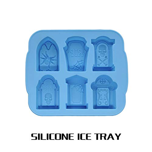 SKAISK Eco-Friendly Ice Tray Mold Ice Cube Mold Whisky Halloween Kitchen Supplies Tombstone Shape Creative Ice Tool
