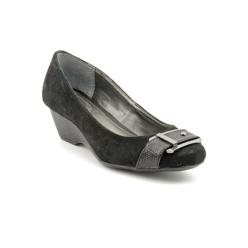 Alfani Vina Womens Wedge Pumps, Black, Size 8.0