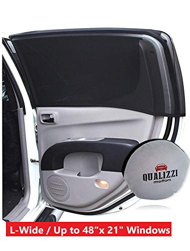 L-Wide/Car Sun Shades That Fit Most SUV's Windows Up to 48 x 21 in. at Maximum Stretch