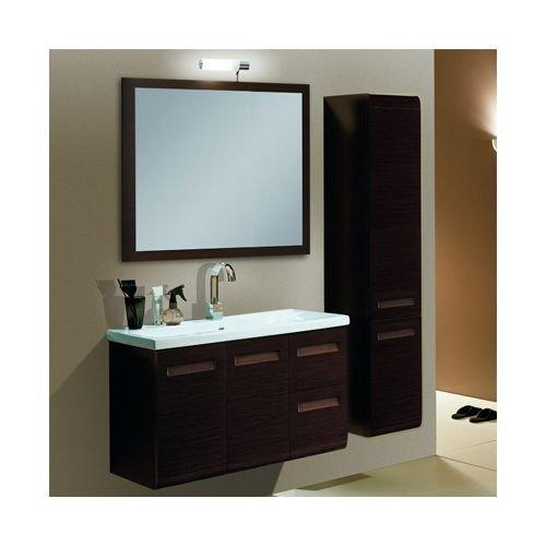 Nameeks NG1C Iotti 38-1/4″ Wall Mounted Vanity Set with Wood Cabinet, Ceramic To, Wenge