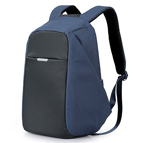 Anti-Theft Travel Backpack Business Laptop Book School Bag with USB Charging Port for Student Work Men & Women by Oscaurt Grey (New Blue)