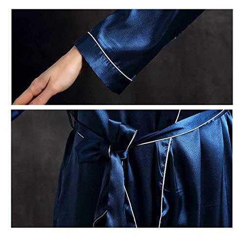 Marca Otoño Mujer Largos Mode Con Cinturón Satín Pijama Albornoz Kimono Camisones Bonita Moderno cuello V De C Larga Manga Pijamas Primavera wrEE48q1