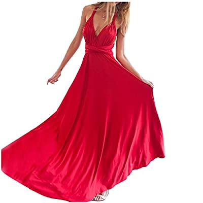 JET-BOND Infinity Night Dress Multi-Way Wrap Camisoles Halter Maxi Floor Long Dress High Elasticity FS41