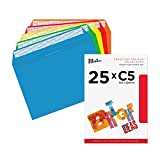 Blake Creative Colour C5 162 x 229 mm 120 gsm Peel & Seal Wallet Envelopes (45123) Assorted Bright Colours - Pack of 25