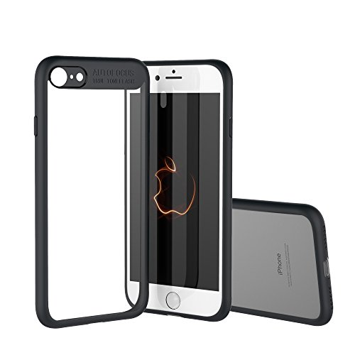 Price comparison product image VMTOP iPhone 7 iPhone 8 Clear Case Transparent Clear Slim Scratch Resistant Protective Cover PC TPE Slim Clear Case + Hard PC Frame Rubber Bumper Cover for iPhone 7/ iPhone 8 BLACK