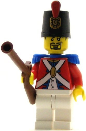 (LEGO Pirates Minifig Imperial Soldier II Shako Hat Decorated Black Goatee )