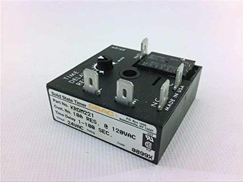 State Ssac Timer Solid (SSAC KRDM221 Relay Solid State Timer 2X2 D.O.M. W/Relay)