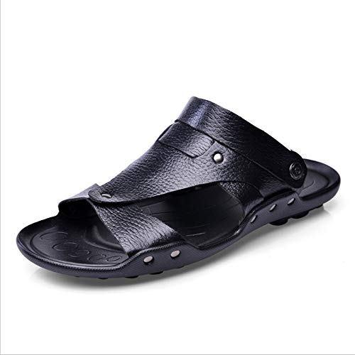 Scarpe 0 Nero Da Wagsiyi Summer spiaggia Sandali In Uomo Traspiranti Sandali pantofole CM Pelle da Sandali 24 27 Antiscivolo 0 Y1paq