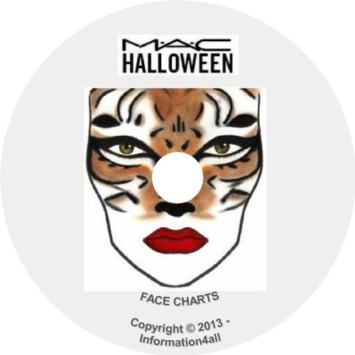 [250+ Mac Makeup Face Charts Halloween Costume Theatrical Seasonal Pictures on CD] (Makeup For A Bat Costume)