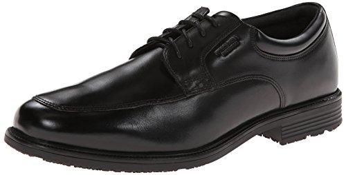 Rockport Mens Waterproof Lead The Pack Apron-Toe Oxford- Black Waterproof Leather