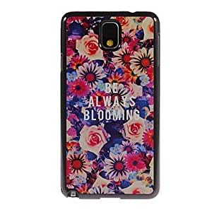 TOPMM Always Blooming Design Aluminium Hard Case for Samsung Galaxy Note3