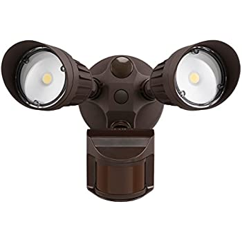 20w dual head motion activated led outdoor security light 20w dual head motion activated led outdoor security light photocell included newly aloadofball Images