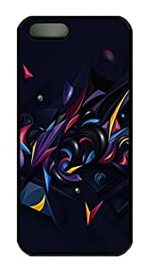 iPhone 5 5S Case 3D Abstract Chaos Color PC Custom iPhone 5 5S Case Cover Black