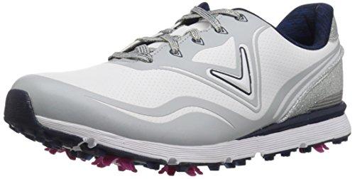Callaway Women's Halo Golf Shoe, White/Navy, 10 B B US