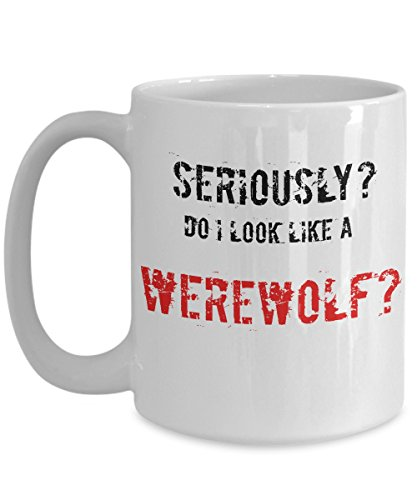 Werewolf Mug Funny Halloween Lycan Howling Scary Spooky Board Game Gift Idea Cup
