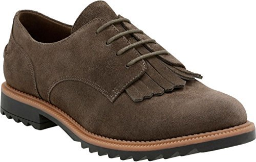 Clarks Women's Griffin Mabel Oxford,Khaki Suede,US 7.5 M