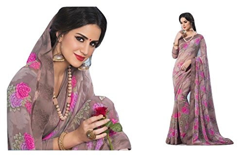 Jay Sarees Most Beautiful Georgette Designer Saree with unstitched blouse -v9557 by JAY SAREES