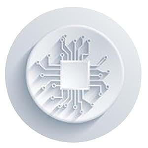 alfombrilla de ratón Vector icono de la tarjeta de circuitos moderno. - ronda - 20cm