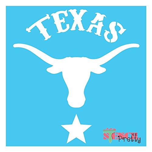 Lone Star State Longhorn Bull Stencil - Texas DIY Template - M (13