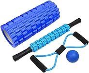 Foam Roller Kit - 5 in 1 set including Foam Roller, Massage Roller Stick, and Massage Ball for Deep Tissue Mas