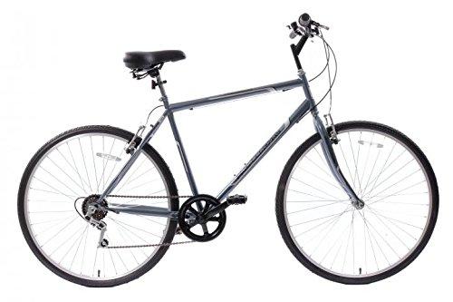 Professional Premium Mens 700c Hybrid Commuter City Bike 21' Frame 6 Speed...