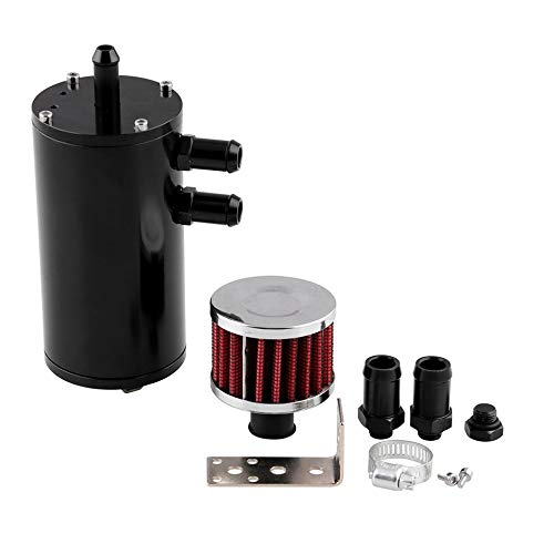 Price comparison product image Titanic K-Motor Performance AN10 Baffled Oil Catch Can Reservoir Tank Filter(Black)