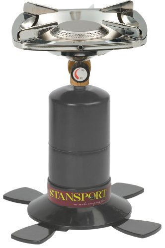 Stansport Single Burner 10,000 BTU Propane Stove, Black, Outdoor Stuffs