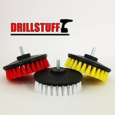 Tile and Grout, Tub, Shower, Sink, Porcelain Drill Powered Cleaning Rotary Electric Brush Kit from Drill Brush