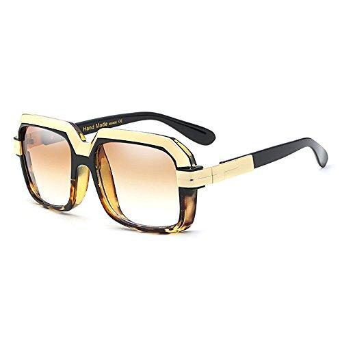 Degradado Vintage Cuadrados A de Burenqi Estilo Gafas Mujeres Sobredimensionado Gafas Nuevo Lente Hembra Bastidor Star UV400 Sol B TqxwwI8P1n