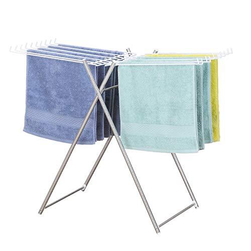 タオル乾燥ラック、折りたたみ式フレーム床置き乾燥ラック、清潔で小型軽量(83 * 39 * 69 cm)の無料設置 Nosterappou B07RKTC2ZP