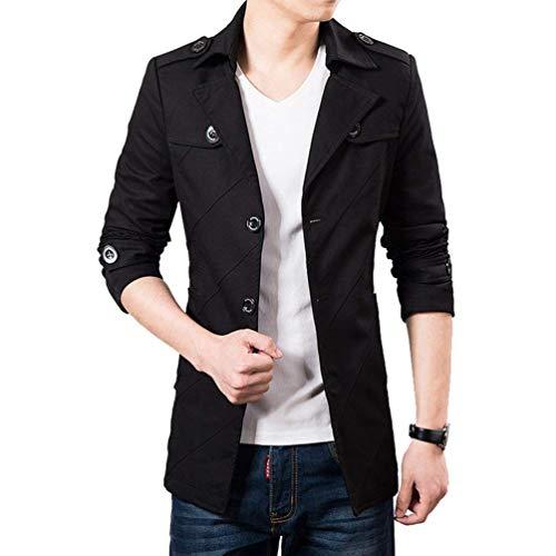 Blazer Blouson Schwarz 1 Trench Slim Leisure Décontractée Suit Outwear La À Hommes Mode coat Veste Homme Retro Fit Manteau rq54Wr