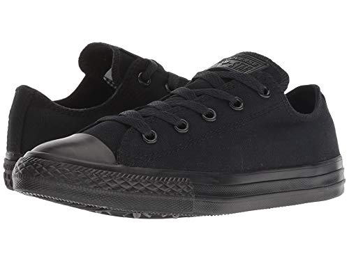 Converse M5039 Chuck Taylor All Star Low Top Black Mono Unisex Sneaker, Black Monochrome, 8 Women / 6 Men