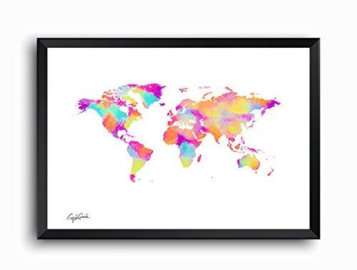 Craig Garcia ルイヴィトン WORLD MAP A1 A2サイズ (A1, マルチ) B01EV7NDB0 A1|マルチ マルチ A1