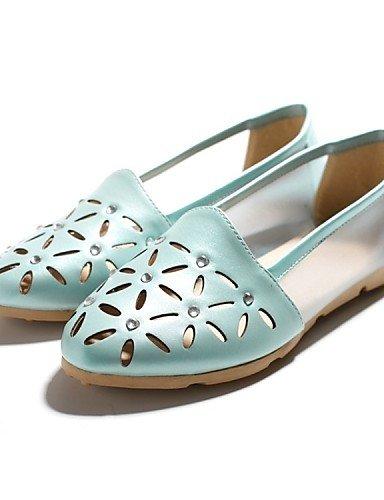 ShangYi Sandaletten für Damen Damenschuhe-Sandalen-Outddor / Lässig-Kunstleder-Niedriger Absatz-Komfort-Schwarz / Blau / Rosa / Weiß , pink-us7.5 / eu38 / uk5.5 / cn38 , pink-us7.5 / eu38 / uk5.5 / cn