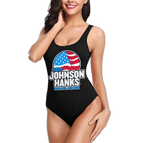 Johnson Hanks 2020 President Election Women's One-Piece Swimsuit Vintage Bathing Suit Swimwear White