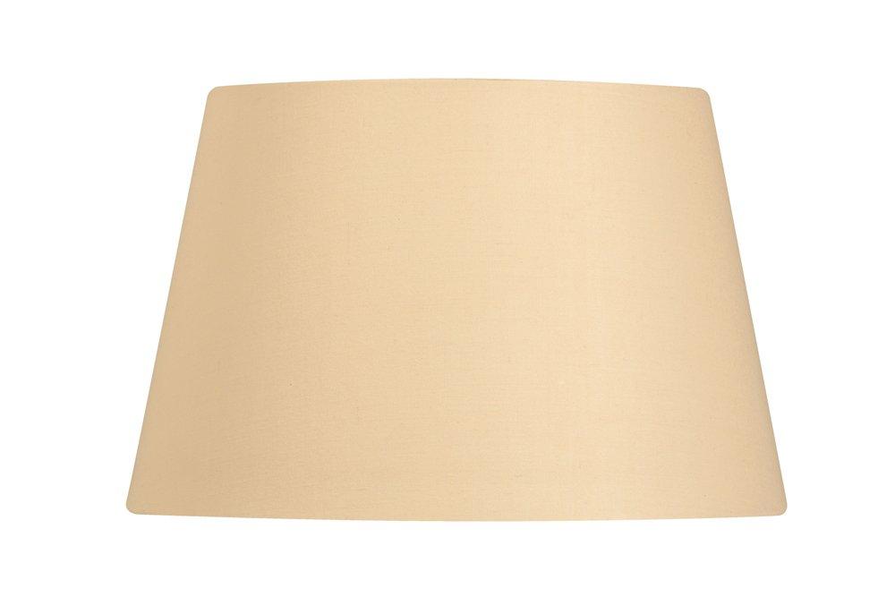 Oaks Lighting Abat-jour tambour en coton Beige 50 cm