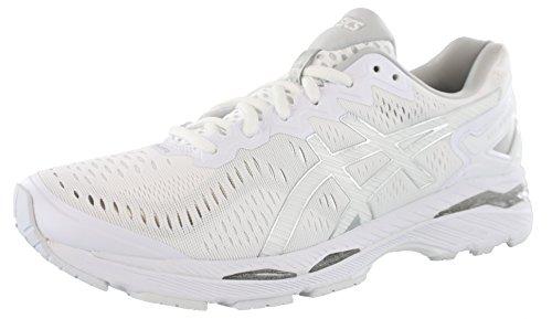 ASICS Women's Gel-Kayano 23 Running Shoe, White/Snow/Silver, 9 M US