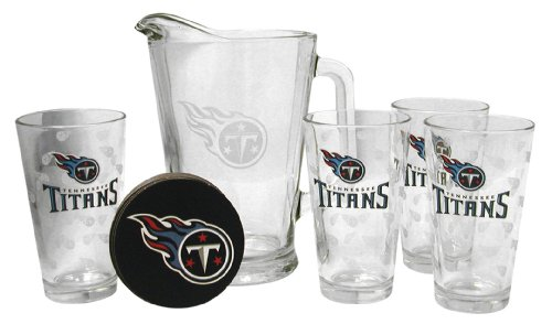 - Boelter Brands Tennessee Titans Satin Etch Pitcher and 4 Glass Gift Set