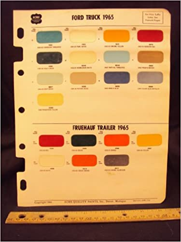 1965 ford truck fruehauf trailer paint colors chip page ford motor company amazoncom books - Ford Truck Paint Colors