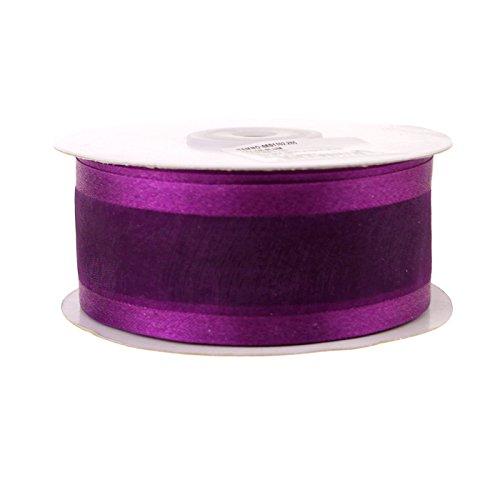 (Homeford Satin-Edge Sheer Organza Ribbon, 1-1/2-Inch, 25-Yard (Plum))